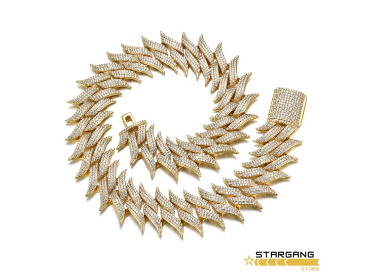 29mm Thorns Cuban Bracelet