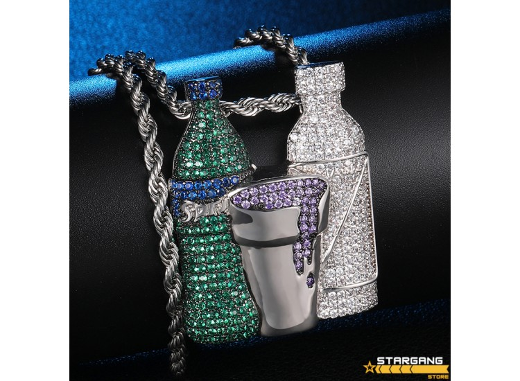 Iced Out Beverage Pendant