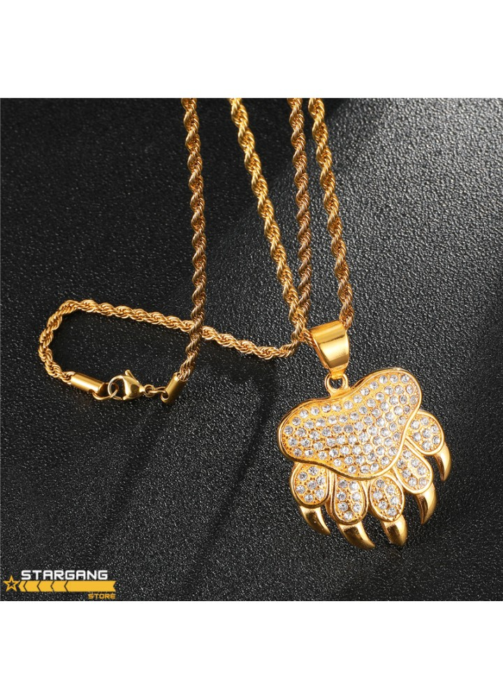 Iced Out Claw Pendant