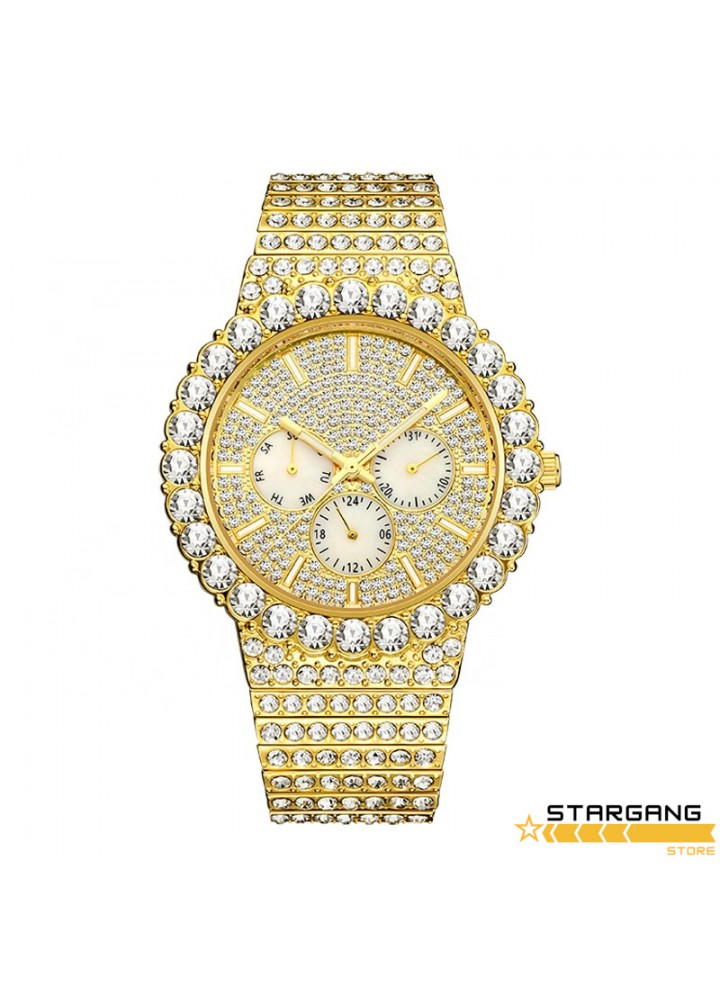 18k Gold Fashion Wrist Watch