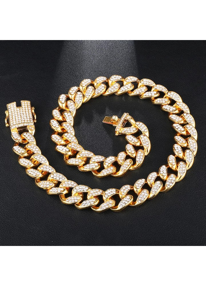 Iced Out Cuban Chaın (20mm) (Gold)