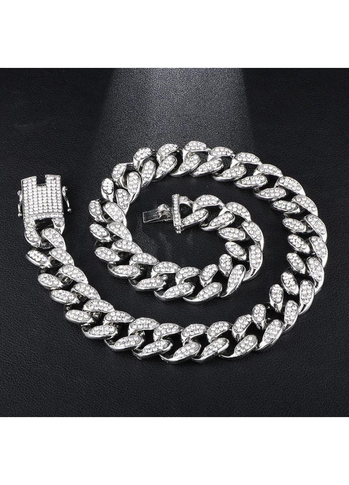 Iced Out Cuban Chaın (20mm) (Sılver)