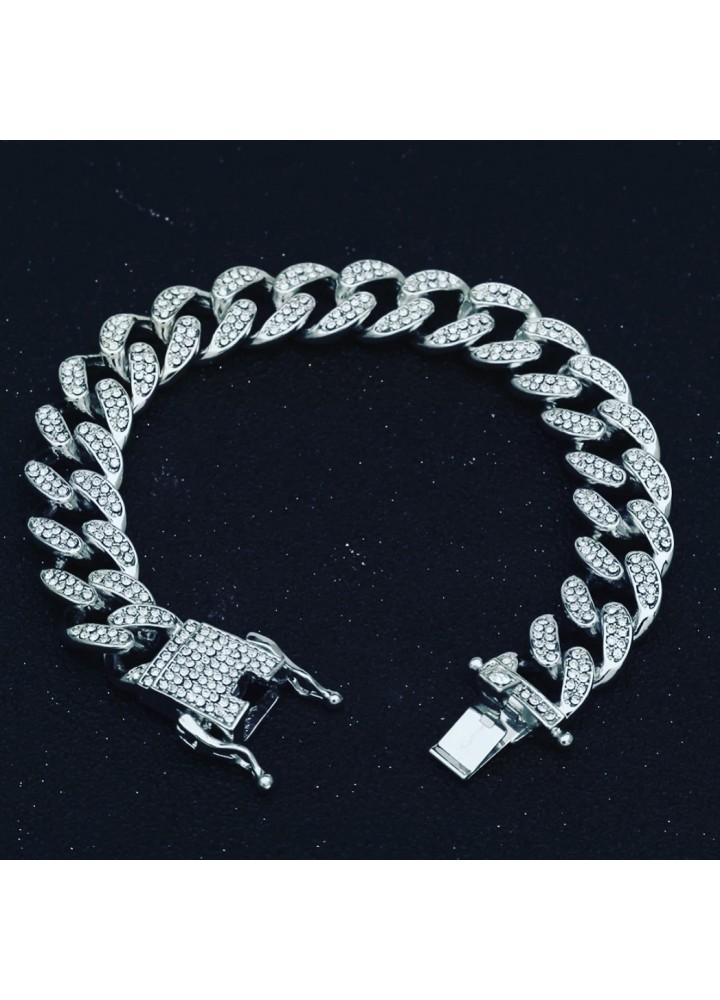 13 mm Iced out cuban bracelet
